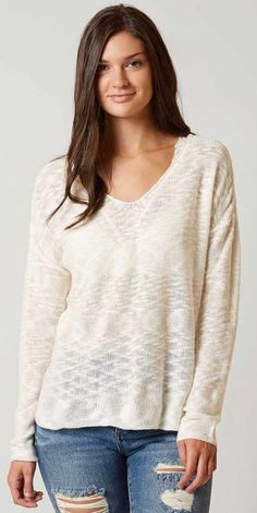 Neutral Lightweight Sweater : Minimalist Style : Daytrip Open Weave Sweater | Buckle