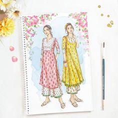 Fashion Illustration Tutorial, Dress Illustration, Fashion Illustration Dresses, Fashion Illustrations, Fashion Design Sketchbook, Fashion Design Drawings, Fashion Sketches, Dress Sketches, Art Drawings For Kids