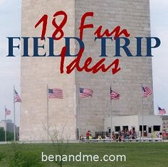 18 fun field trip ideas. #homeschool #fieldtrips