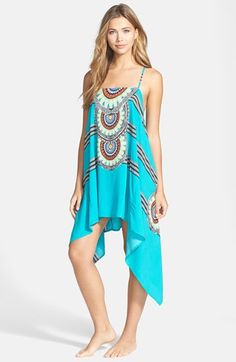 d99920a900 Red Carter Medallion Stripe Handkerchief Cover-Up Dress available at   Nordstrom Women s Swimsuits