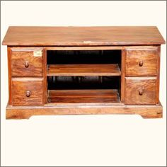 Bring the simple life home with the Appalachian Pillbox 4 Drawer TV Entertainment Center. This #rustic media #cabinet features 2 open #shelves and 4 drawers. 19.5� wide surface will hold all varieties of TVs. #interiors #contemporyfurniture #homedecor #furniture #homeinspiration   http://www.sierralivingconcepts.com/
