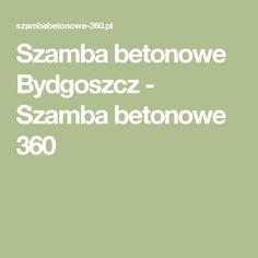 Szamba betonowe Bydgoszcz - Szamba betonowe 360 Busan