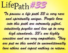 How to calculate life path number 33