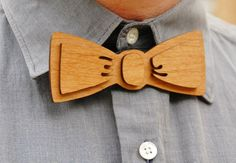 Wooden, Laser Cut Bow Tie - Handsome, Custom Mens Gift from Adler Wood on Etsy, $16.72 AUD