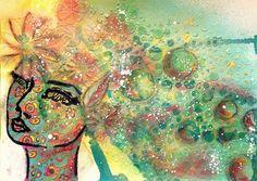 | VIDEO TUTORIAL | ART JOURNAL PAGE: LOVE - Nika in Wonderland Blogu using jane davenport stencil - video tutorial