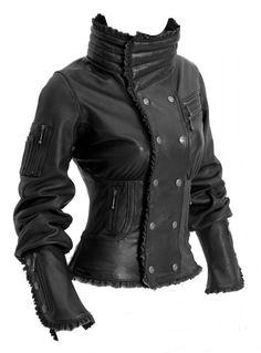 Onyx-Jacke von Ayyawear - Leder Korsett Style Motorrad Mantel / Tribal Jacke Steampunk Gothic von Verillas auf Etsy https://www.etsy.com/de/listing/182669793/onyx-jacke-von-ayyawear-leder-korsett