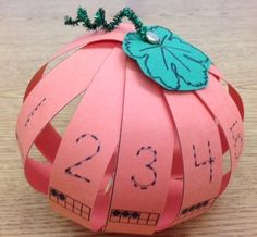 Let's Count on a Pumpkin! {FREE} make from paper strips