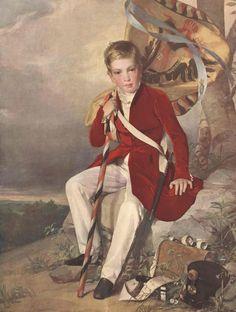 Der achtjährige Erzherzog Franz Joseph sollte sich schon früh für die Armee begeistern, hier mit Tornister und Tschako dargestellt. Mehr zum 100. Todesjahr:  http://www.nachrichten.at/nachrichten/longread/Der-Mythos-um-Kaiser-Franz-Joseph-I;art180211,2172941 (Bild: Haus- Hof-, und Staatsaarchiv Wien)
