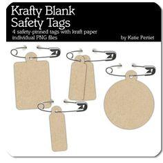Krafty Blank Safety Tags