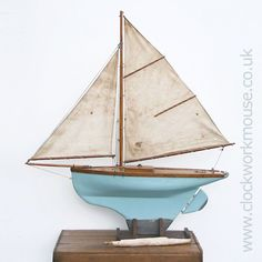 A beautiful early wooden pond yacht with fabulous patina. Believed to be pre first world war this model sailing boat comes with some history having been passed down through the original builders family until now.