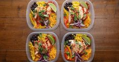 Weekday Meal-Prep Chicken Burrito Bowls Recipe by Tasty - Healthy dinner recipes - Chicken Meal Prep, Chicken Recipes, Healthy Meals With Chicken, Healthy Camping Meals, Healthy Cheap Meals, Weekly Meal Prep Healthy, Brocolli Recipes, Easy Healthy Meal Prep, Shrimp Recipes