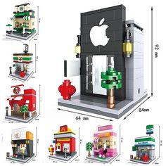 8 Sets Baru Adegan Mini Blok Bangunan jalan Mainan Arsitektur Nanoblocks legoe Brinquedos Anak Pendidikan Mainan Kompatibel