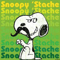 Snoopy 'Stache