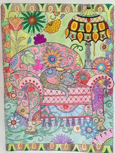 Majorie Sarnant Malbuch Coloriert von Bettina