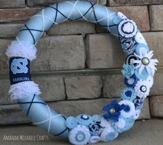 UNC Wreath by AmandaMichaeleCrafts on Etsy
