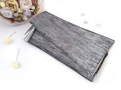 Metallic clutch bag Silver clutch purse by DropDeadSimpleBags