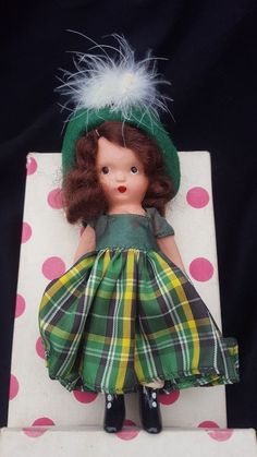Antique Bisque Nancy Ann Storybook Doll, One -Two Button My Shoe #123 #NancyAnn #Dolls