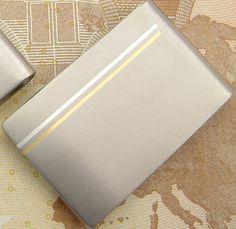 MONEY-CLIP   TITAN PUR  Titan 24kGold und Silber als Linearmotiv www.uliglaserdesign.de