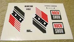 Rock shox Tora Fork Replacement/Colored sticker on the от Velomoto