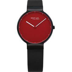 cc0c6f1b01f Bering Time - Classic - Ladies Calfskin Black Watch (Womens) jewelry