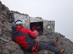 Howell Hut at the top of Nelion Route