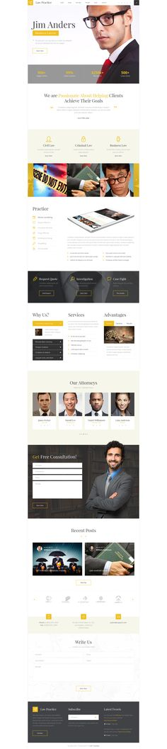 LawPlus is a clean and modern PSD template for law firm - law firm brochure