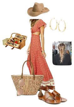 """""""Picnic"""" by lynne-farrell ❤ liked on Polyvore featuring Lana, Roxy, Picnic at Ascot, Michael Kors, Straw Studios and Linda Farrow"""
