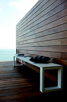 bench and decking
