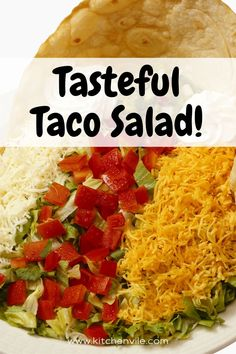Taco Salad Recipe, Simple and Quick Taco salad recipe for the family. healthy taco salads recipe/ simple taco salad/ how to make taco salad/ healthy taco salad recipe Taco Salad Recipes, Taco Salads, Salad Recipes For Dinner, Healthy Salads, Weeknight Meals, Easy Meals, How To Make Taco, Favorite Recipes, Simple