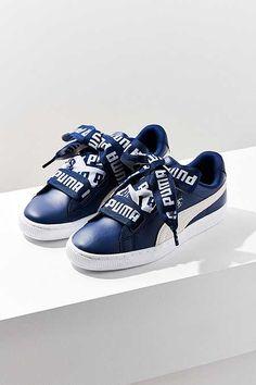 finest selection 85c40 b2f08 Puma Basket Heart DE Leather Sneaker Puma Basket Heart, Leather Trainers,  Leather Sneakers,