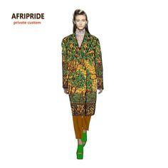 Vestido africano para mulheres roupas longas suitcoat robe africaine bazin  riche africano algodão cera de impressão f43d0d2349cd