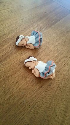 Two babies for a baptism - babies fimo