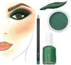 Get the look: #Emerald 2013 #coloroftheyear #Nordstrom #Beauty
