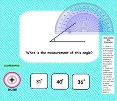 Have fun hitting the bull's eye and practicing angles with this self-checking Smart Board game! Students measure angles, define their different properties, and distinguish between acute, obtuse, and right angles. (Common Core Aligned: 4.MD.5, 4.MD.6, 4.G.1)