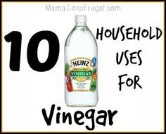 Vinegar can be used for more than just food. Here are 10 clever household hacks using vinegar.