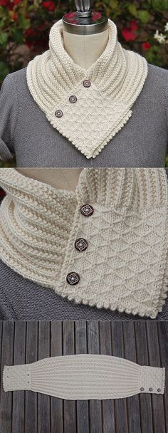 Quilted Lattice Ascot pattern by Pam Powers Crochet Scarves, Crochet Shawl, Knit Crochet, Hand Knitting, Knitting Patterns, Crochet Patterns, Fairy Crafts, Knit Cowl, Knitted Cowls