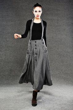 φούστες μαλλί Long Maxi Φούστα από YL1dress στο Etsy, $ 89.00