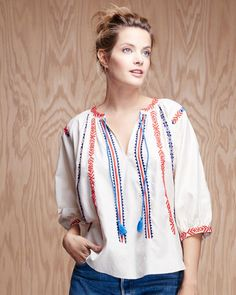 Kate Embroidered Peasant Blouse