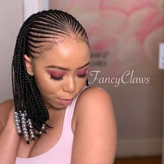 hairstyle done at FancyClaws please contact us for bookings, prices or any enquirers 0712093250 Address: 15 hurst grove musgrave, Durban South Africa 🚫 NO DM 🙏🏾 Short Box Braids Hairstyles, Braids Hairstyles Pictures, Black Girl Braided Hairstyles, Braided Ponytail Hairstyles, African Braids Hairstyles, Twist Hairstyles, African Braids Styles, Simple Hairstyles, Medium Hairstyles