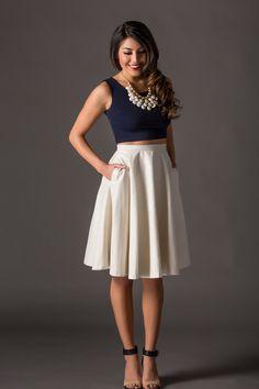 holiday shimmer Midi Skirt – Morning Lavender