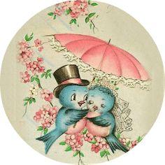 Shop Vintage Bridal Shower Greeting Card created by RetroMagicShop. Vintage Wedding Cards, Vintage Greeting Cards, Vintage Bridal, Vintage Postcards, Vintage Pictures, Vintage Images, Images Lindas, Bluebird Vintage, Old Cards