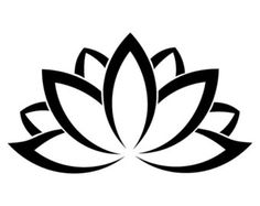 lotus simple black vector