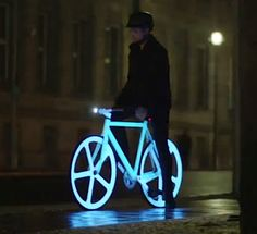 Glow in the dark bike with!!!! a basket for my dog.