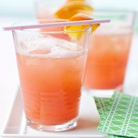 June Bug - ginger ale, grenadine, orange juice and orange sherbet >> What a wonderful drink for summer!