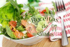 As saladas são perfeitas para o bom tempo, para as dietas, para se sentir bem com o seu corpo, mais saudável, para acompanhamento de pratos, para entradas, para partilhar com os amigos, a família, os vizinhos.