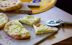 Pizza Bianca | White Pizza {with Zucchini} Sliced