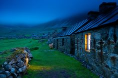 Picture of stone houses on St. Kilda