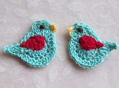 crochet bird applique