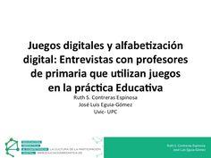 Presentación realizada en el congreso EDUMED 2013. ¿Cuál es la posición de los profesores con respecto al uso de juegos digitales en las aulas? ¿Qué impulsa a los profesores a utilizarlos? ¿Cuáles son las características que comparten los profesores que utilizan juegos digitales?