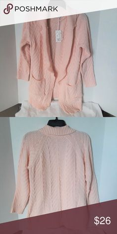 Soft Pink Juniors Candies Open Front Cardigan Product Features 2 pockets Open Front Notch Collar  Fabric & Care Acrylic Machine wash  Great condition New with Tags Non-smoking home Candie's Sweaters Cardigans